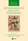 A Companion to Analytic Philosophy - eBook