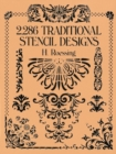 2,286 Traditional Stencil Designs - Book