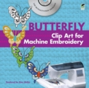 Butterfly Clip Art for Machine Embroidery - Book