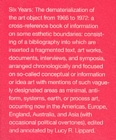 Six Years : The Dematerialization of the Art Object from 1966 to 1972 - Book