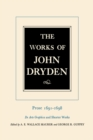 The Works of John Dryden, Volume XX : Prose 1691-1698 De Arte Graphica and Shorter Works - eBook
