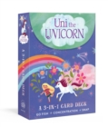Uni the Unicorn 3-in-1 Card Deck : Card games include Crazy Eights, Concentration, and Snap - Book