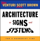 Architecture as Signs and Systems - Book