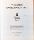 Thematic Apperception Test - Book