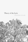 Theory of the Lyric - Book