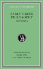 Early Greek Philosophy, Volume Iv : Sophists - Book