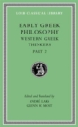 Early Greek Philosophy, Volume V : Western Greek Thinkers, Part 2 - Book