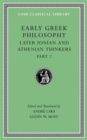 Early Greek Philosophy, Volume VII : Later Ionian and Athenian Thinkers, Part 2 - Book