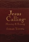 Jesus Calling Morning and Evening, brown leathersoft hardcover, with Scripture references - Book