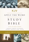 KJV, Apply the Word Study Bible, Large Print, Hardcover, Red Letter Edition : Live in His Steps - Book
