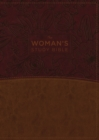 The NKJV, Woman's Study Bible, Leathersoft, Brown/Burgundy, Full-Color, Red Letter, Thumb Indexed : Receiving God's Truth for Balance, Hope, and Transformation - Book