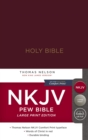 NKJV, Pew Bible, Large Print, Hardcover, Burgundy, Red Letter, Comfort Print : Holy Bible, New King James Version - Book