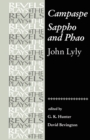 Campaspe and Sappho and Phao : John Lyly - Book
