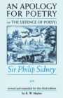 An Apology for Poetry (or the Defence of Poesy) : Sir Philip Sidney - Book