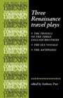 Three Renaissance Travel Plays - Book