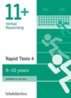 11+ Verbal Reasoning Rapid Tests Book 4: Year 5, Ages 9-10 - Book