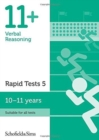11+ Verbal Reasoning Rapid Tests Book 5: Year 6, Ages 10-11 - Book