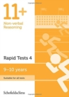 11+ Non-verbal Reasoning Rapid Tests Book 4: Year 5, Ages 9-10 - Book