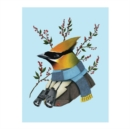 Berkley Bestiary Winter Waxwing Large Embellished Notecards - Book