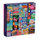Vintage Motel Signs 500 Piece Puzzle - Book