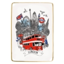 London Medium Porcelain Tray - Book