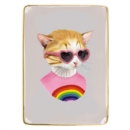 Berkley Bestiary Rainbow Kitten Medium Porcelain Tray - Book