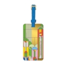 Frank Lloyd Wright Saguaro Forms & Cactus Flowers Luggage Tag - Book