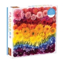 Rainbow Summer Flowers 500 Piece Puzzle - Book