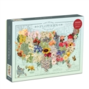 Wendy Gold USA State Flowers 1000 Piece Puzzle - Book