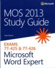 MOS 2013 Study Guide for Microsoft Word Expert - Book