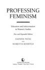 Professing Feminism : Education and Indoctrination in Women's Studies - eBook