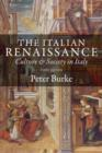 The Italian Renaissance : Culture and Society in Italy - Book