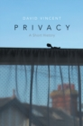 Privacy : A Short History - Book