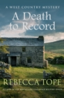 A Death to Record - Book