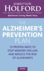 The Alzheimer's Prevention Plan : 10 proven ways to stop memory decline and reduce the risk of Alzheimer's - Book
