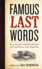 Famous Last Words - Book