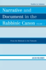 Narrative and Document in the Rabbinic Canon : From the Mishnah to the Talmuds - eBook