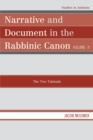 Narrative and Document in the Rabbinic Canon : The Two Talmuds - eBook