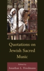 Quotations on Jewish Sacred Music - eBook