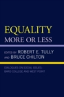 Equality : More or Less - eBook
