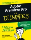 Adobe Premiere Pro For Dummies - Book