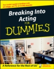 Breaking Into Acting For Dummies - Book