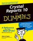 Crystal Reports 10 For Dummies - eBook