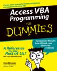 Access VBA Programming For Dummies - eBook