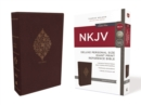 NKJV, Deluxe Reference Bible, Personal Size Giant Print, Leathersoft, Burgundy, Thumb Indexed, Red Letter, Comfort Print : Holy Bible, New King James Version - Book