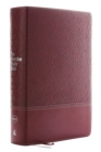 NKJV, Wiersbe Study Bible, Leathersoft, Burgundy, Thumb  Indexed, Red Letter Edition, Comfort Print : Be Transformed by the Power of God's Word - Book