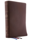 The NKJV, Open Bible, Genuine Leather, Brown, Red Letter Edition, Comfort Print : Complete Reference System - Book