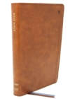NET Bible, Thinline Large Print, Leathersoft, Brown, Comfort Print : Holy Bible - Book