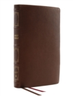 NKJV, Thinline Reference Bible, Genuine Leather, Brown, Red Letter, Thumb Indexed, Comfort Print : Holy Bible, New King James Version - Book