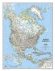 North America Classic, Enlarged &, Tubed : Wall Maps Continents - Book